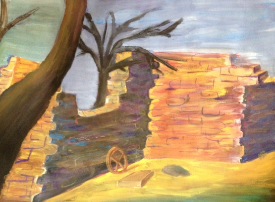 Творбата е задание по композиция на по-малката ми дъщеря.