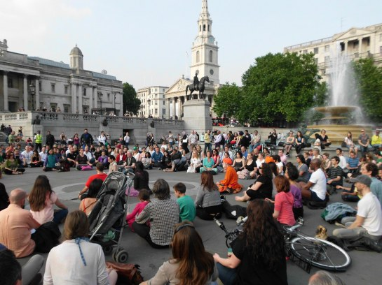 Meditation Flashmob - Trafalgar Square, London